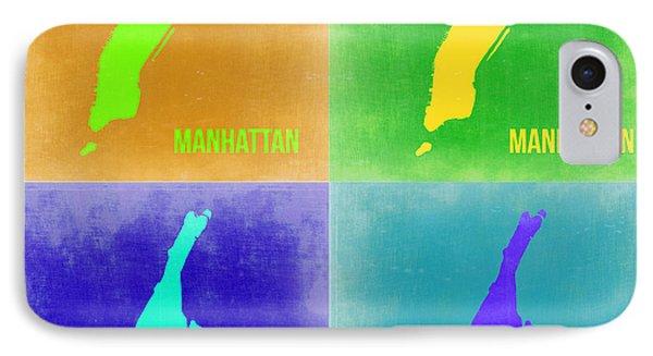 Manhattan Pop Art Map 2 Phone Case by Naxart Studio
