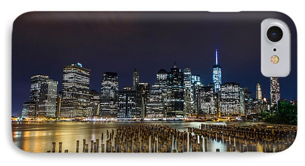 Manhattan Skyline - New York - Usa IPhone 7 Case by Larry Marshall