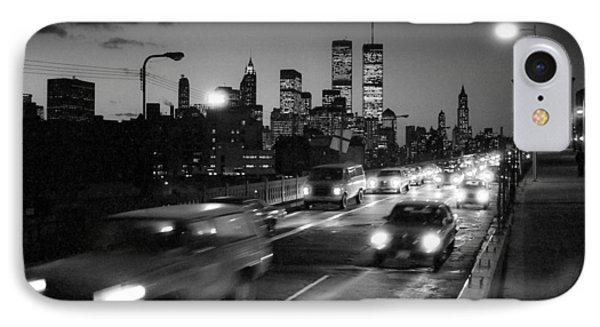Manhattan Skyline Dusk 1980s IPhone Case by Gary Eason