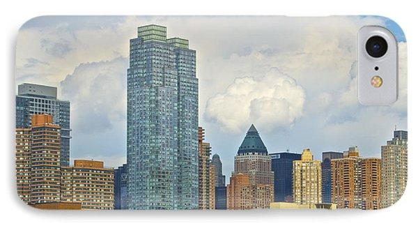 Manhattan Skyline II Phone Case by Galexa Ch