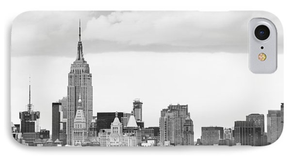 Manhattan Skyline IPhone Case by Takeshi Okada