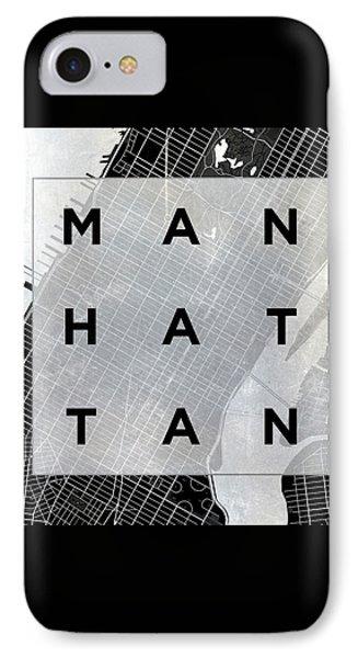Manhattan Square Bw IPhone Case