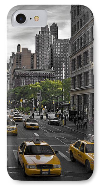 Manhattan Streetscene IPhone Case by Melanie Viola