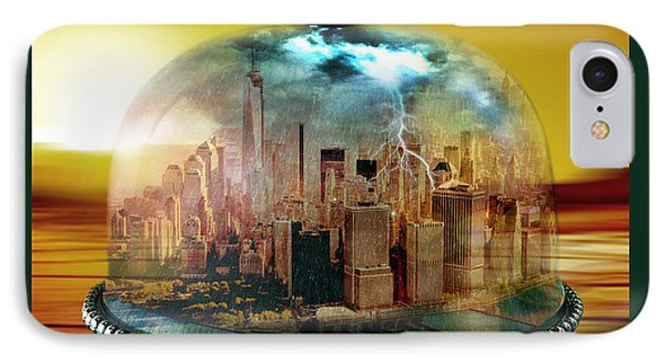 Manhattan Under The Dome IPhone Case by Marian Voicu