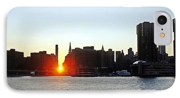 IPhone Case featuring the photograph Manhattanhenge 2011 by Lilliana Mendez
