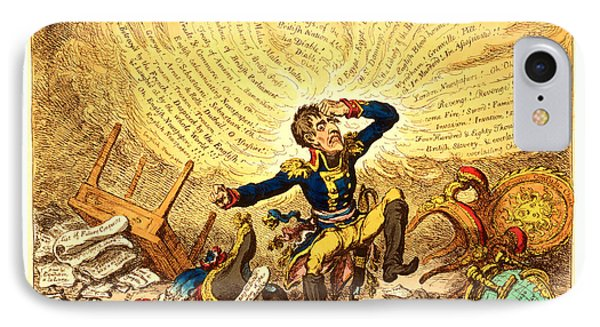 Maniac-ravings Or Little Boney In A Strong Fit, Gillray IPhone Case by French School