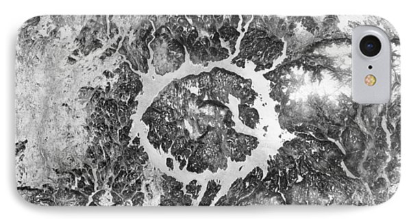 Manicouagan Crater Phone Case by Anonymous