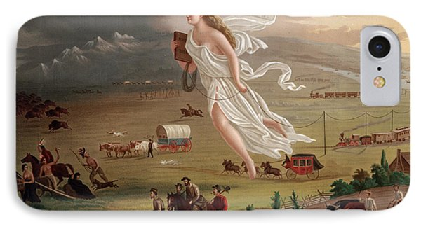 Manifest Destiny 1873 IPhone Case by Photo Researchers