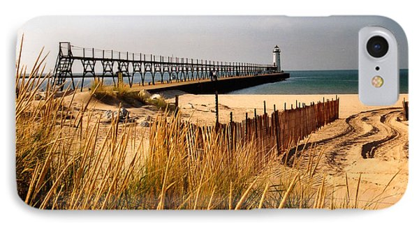 Manistee Lighthouse Phone Case by Crystal Nederman