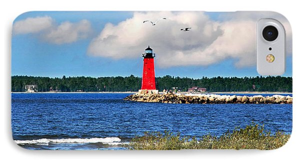 Manistique Lighthouse Phone Case by Christina Rollo