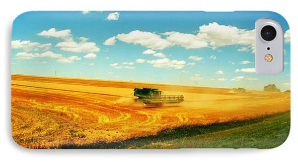 Mankato Nebraska Wheat Harvest Phone Case by PainterArtist FIN