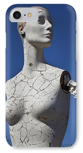 Mannequin Against Blue Sky IPhone Case by Garry Gay
