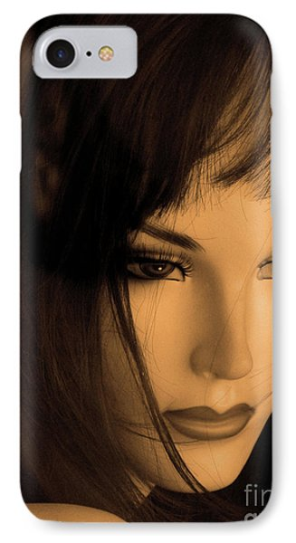 Mannequin Face Phone Case by Angela Wright