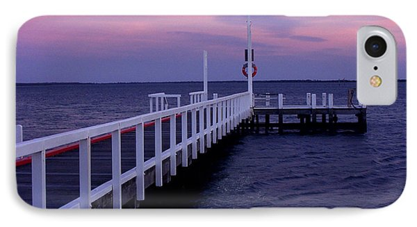 Manns Beach Jetty IPhone Case by Evelyn Tambour