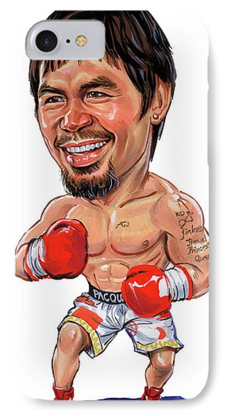 Manny Pacquiao IPhone Case by Art