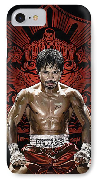 Manny Pacquiao Artwork 1 IPhone Case by Sheraz A