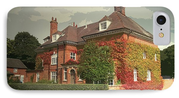 Manor House In Doveridge, Magnificent 19th Century Manor IPhone Case