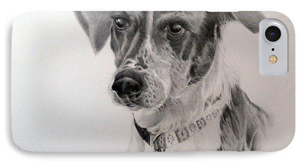 IPhone Case featuring the drawing Man's Best Friend by Lori Ippolito