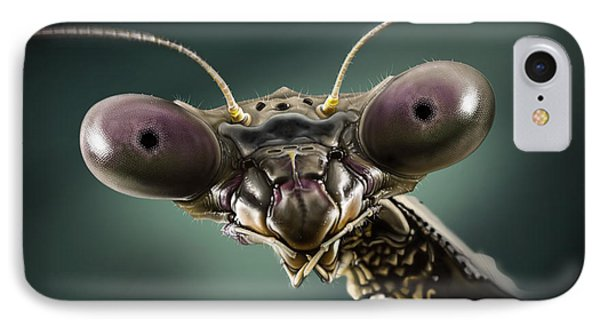 Mantis 2 IPhone Case by Andre Koekemoer