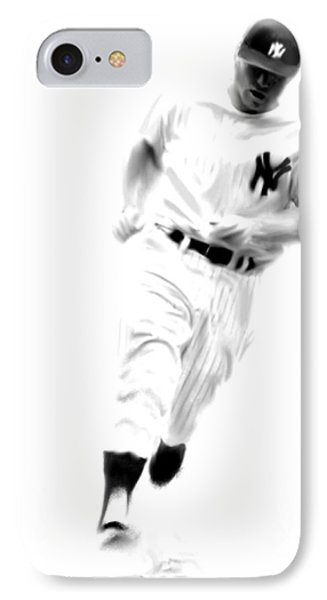 Mantles Gate  Mickey Mantle IPhone Case by Iconic Images Art Gallery David Pucciarelli