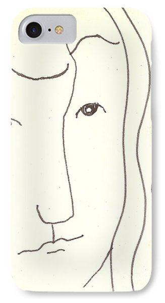 IPhone Case featuring the drawing Manwoman by Rod Ismay