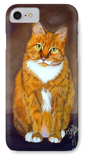 IPhone Case featuring the painting Manx Cat by Terri Mills