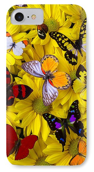 Many Butterflies On Mums IPhone Case by Garry Gay