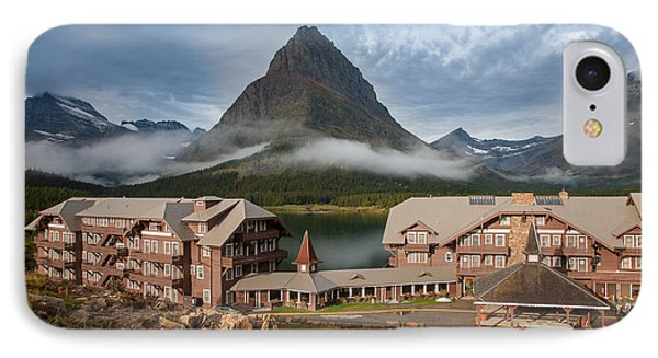 Many Glacier Hotel IPhone Case by Jack Bell