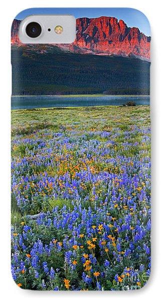 Many Glacier Morning  IPhone Case by Aaron Whittemore