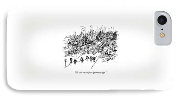 Many Soldiers And A Tank Marching Along A Road IPhone Case