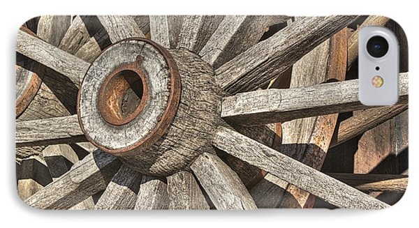 Many Wooden Wheels Phone Case by Phyllis Denton