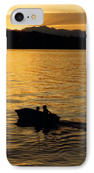 Manzanita Bay Washington Sunset Cruising Phone Case by Jack Pumphrey