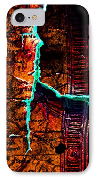 Map 01 Phone Case by Grebo Gray
