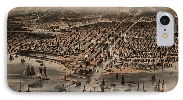 Map Chicago, 1872 IPhone Case by Granger