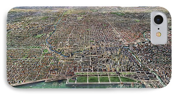 Map Chicago, 1916 IPhone Case