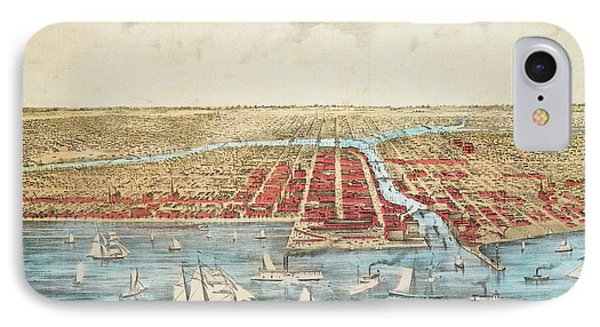 Map Chicago, C1857 IPhone Case by Granger