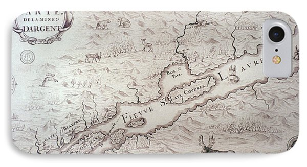 Map In New France, C1675-82 IPhone Case by Granger
