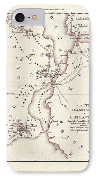 Map Of Atlantis IPhone 7 Case