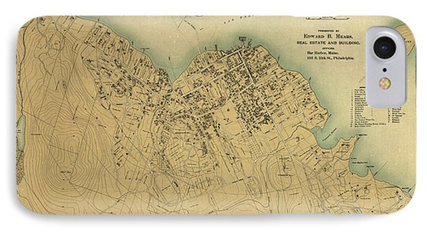 Map Of Bar Harbor Maine 1896 IPhone Case by Edward Fielding