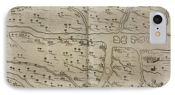 Map Of Basra (al Basrah) In The 17th Cent IPhone Case