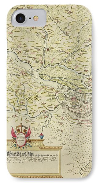 Map Of Belgrade During The Siege Of 1693 IPhone Case