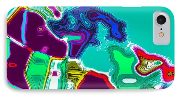 Map Of Canada Digital Painting Phone Case by Eti Reid