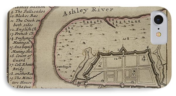 Map Of Charles-town IPhone Case by British Library