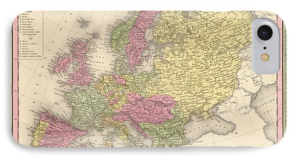 Map Of Europe Phone Case by Gary Grayson