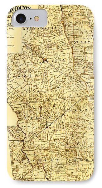Map Of Franklin Country Ohio 1883 IPhone Case by Mountain Dreams
