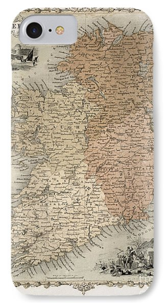 Map Of Ireland IPhone Case by C Montague