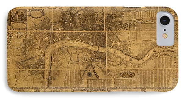 Map Of London England Old Parchment Circa 1905 IPhone Case by Design Turnpike