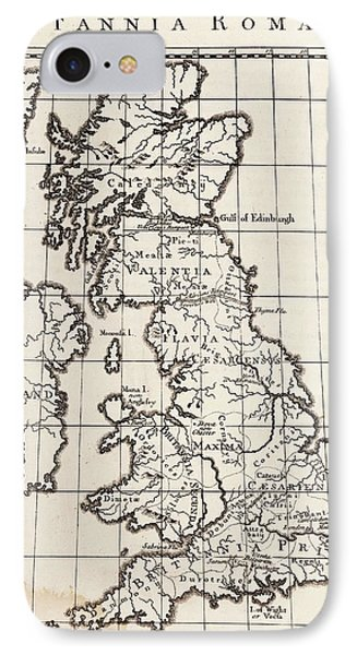 Map Of Roman Britain IPhone Case by Middle Temple Library