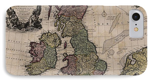 Map Of The British Isles IPhone Case by Library Of Congress, Geography And Map Division