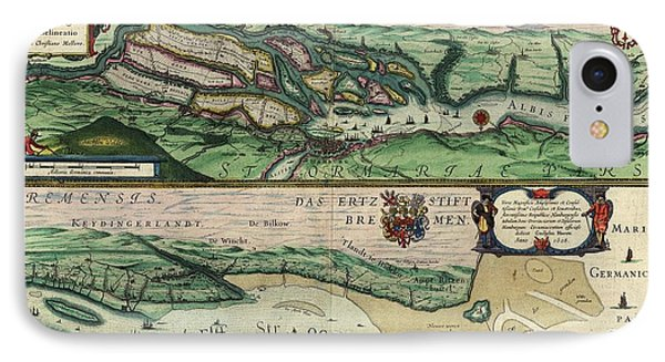 Map Of The Elbe River IPhone Case by Library Of Congress, Geography And Map Division